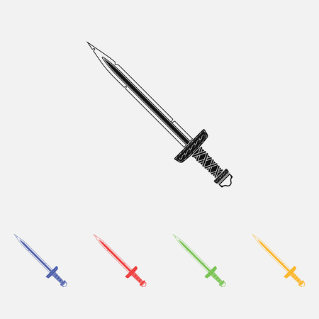 cutlass: sword vector Simple icon. Flat style