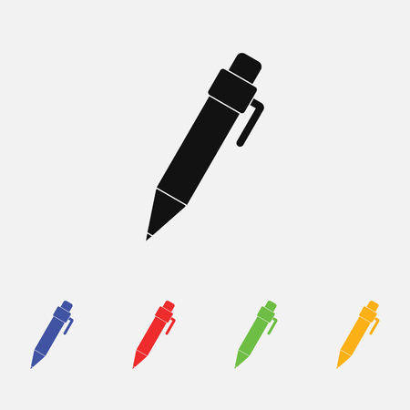 Pen vector icon flat style for web and mobile
