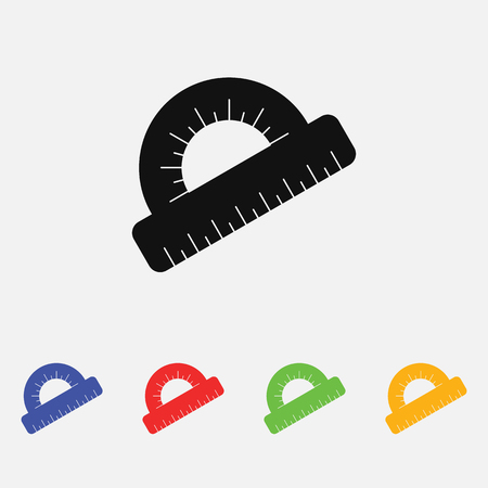 Protractor vector Icon flat style for web and mobile