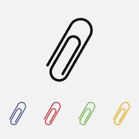 paper clip vector icon. Flat style for web and mobile