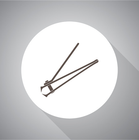clipper: stainless steel nail clipper vector illustration. Flat style. Simple icon.