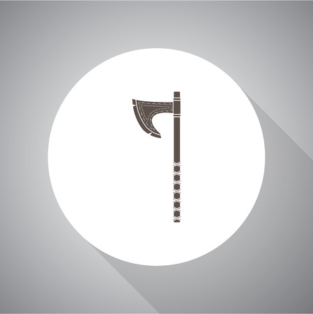 handed: Handed Axe Viking vector Simple icon. Flat style