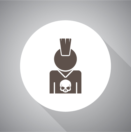 iroquois: Punk vector icon flat style for web and mobile
