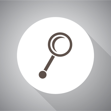 Magnify vector icon Flat style for web and mobile