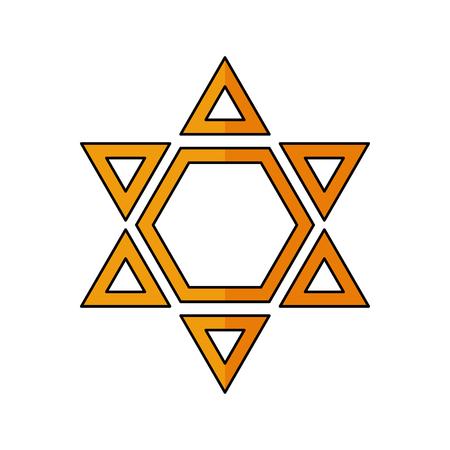 hanuka: Star of David Vector illustration. Religion icon. Silhouette. Flat style. Illustration