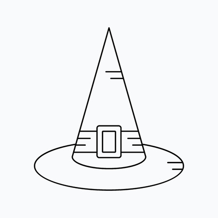Witch Hat for Halloween, vector icon. Illustration