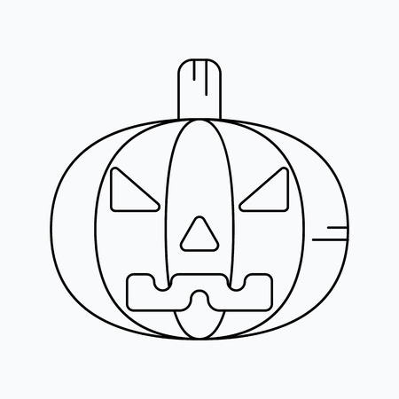 Halloween pumpkin. Vector icon. For web and mobile Illustration