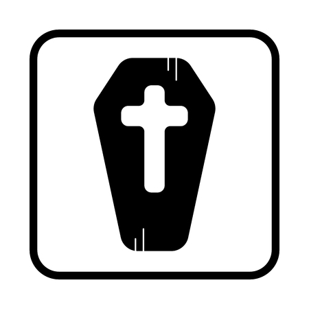 Modern coffin vector icon. Halloween. Stock fotó - 65428492
