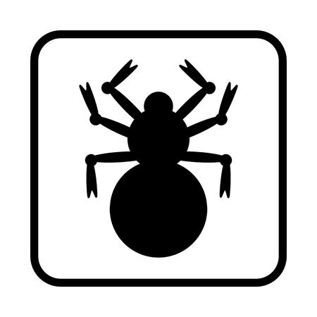 Halloween Spider vector illustration. vector icon