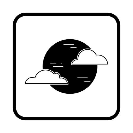Moon vector illustration. Halloween icon
