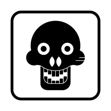 Illustration of a Halloween Skull. Vector icon
