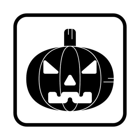 Halloween pumpkin. Vector icon. For web and mobile Illusztráció
