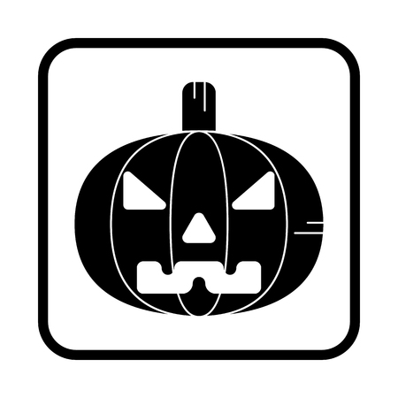Halloween pumpkin. Vector icon. For web and mobile Vettoriali