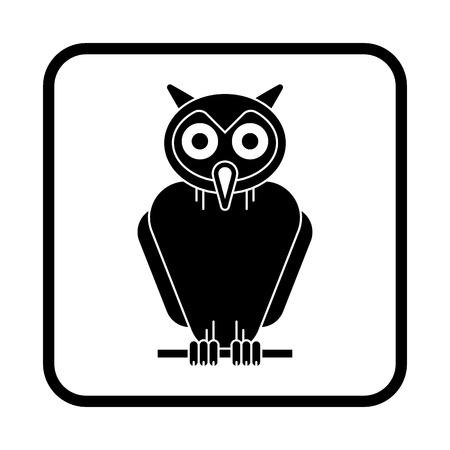 Owl Halloween illustration, Vector icon Illusztráció