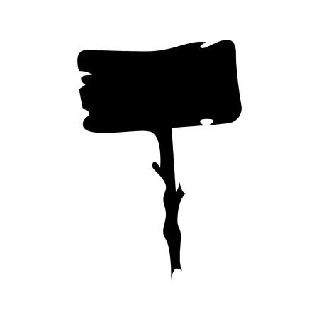 Wooden sign. Halloween icon. Vector Illusztráció