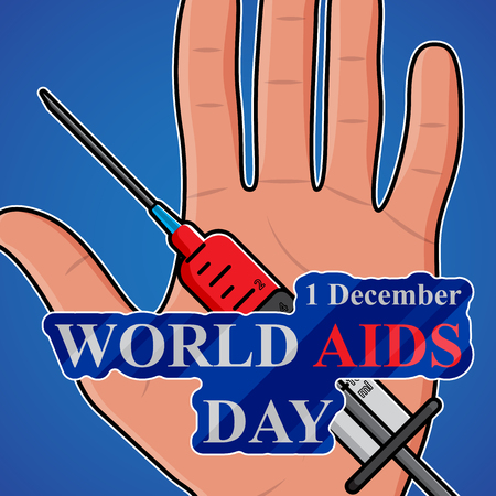 aids: World AIDS Day. 1st December World Aids Day poster. Vector illustration