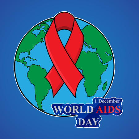 deficiency: World AIDS Day. 1st December World Aids Day poster. Vector illustration