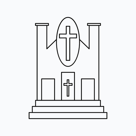 Church Vector illustration. Religion icon. Silhouette. Flat style. Ilustração