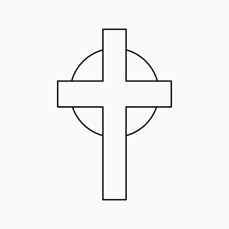 Vector illustration of cross. Religion icon. Silhouette. Flat style. 向量圖像