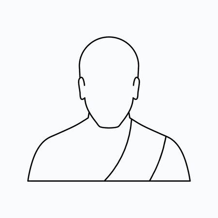 Buddhist monk Vector illustration. Religion icon. Silhouette. Flat style. Illusztráció