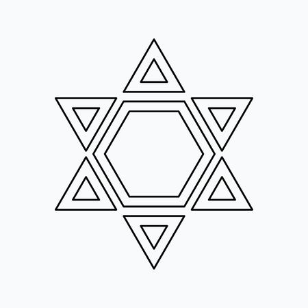 Star of David Vector illustration. Religion icon. Silhouette. Flat style. Illustration