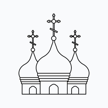 Church Vector illustration. Religion icon. Silhouette. Flat style. Illusztráció