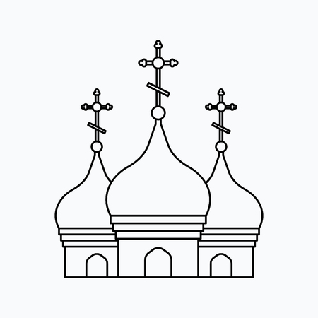 christian marriage: Church Vector illustration. Religion icon. Silhouette. Flat style. Illustration