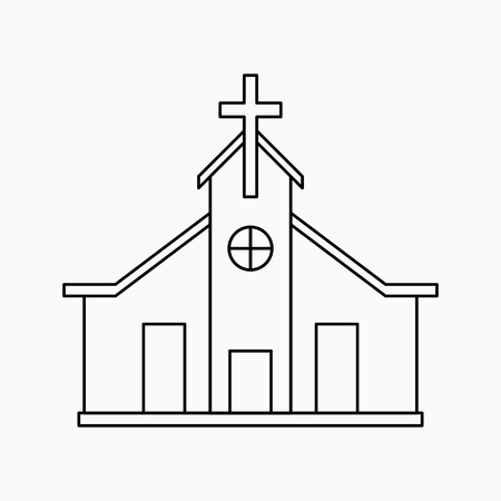 Church Vector illustration. Religion icon. Silhouette. Flat style. Stock fotó - 88474835