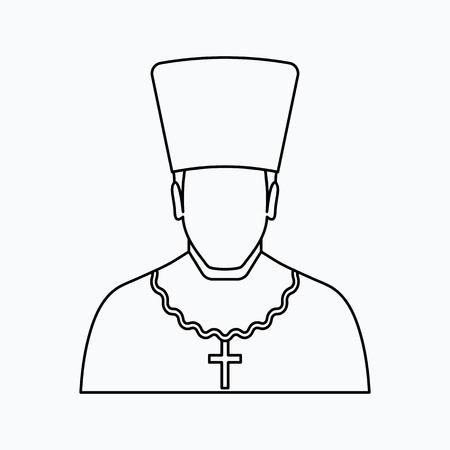 Orthodox priest Vector illustration. Religion icon. Silhouette. Flat style. Illusztráció