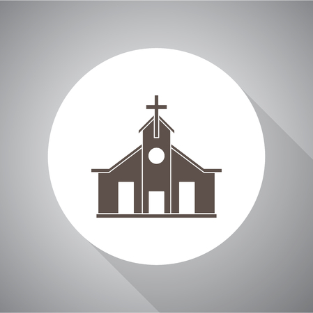 Church Vector illustration. Religion icon. Silhouette. Flat style. Stock fotó - 87917321