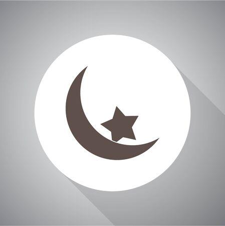 Islam symbol, Vector illustration. Religion icon. Silhouette. Flat style. Illusztráció