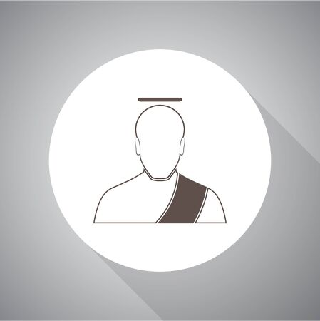 Angel Vector illustration. Religion icon. Silhouette. Flat style.