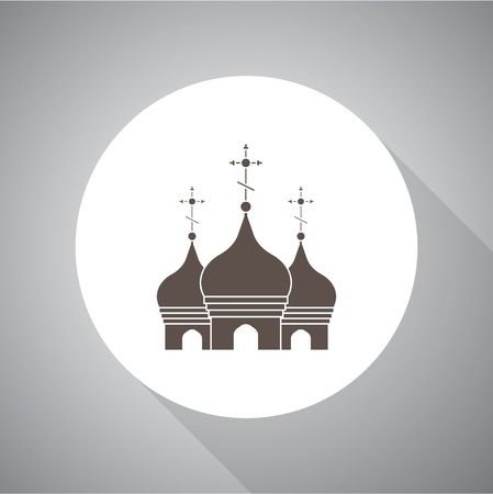Church Vector illustration. Religion icon. Silhouette. Flat style. Stock fotó - 87836150