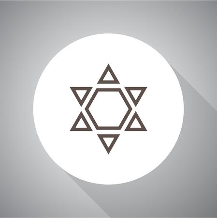 Star of David Vector illustration. Religion icon. Silhouette. Flat style. Illusztráció