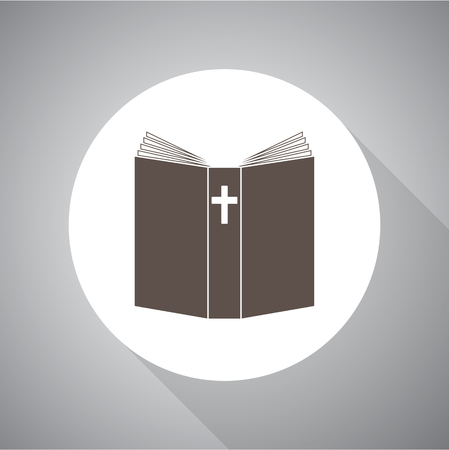 Bible Vector illustration. Religion icon. Silhouette. Flat style.