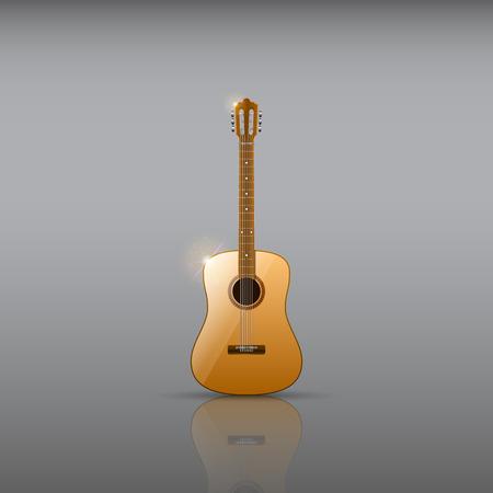 Classical acoustic guitar illustration. Illustration