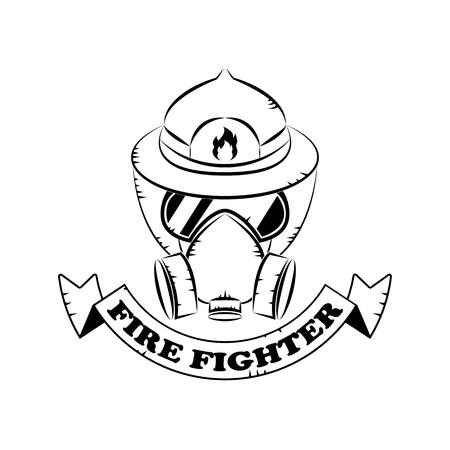 Fire fighter banner design.