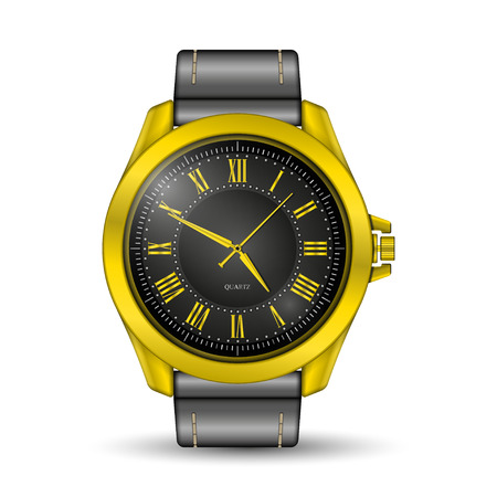 Realistic watch on white illustration. Stock fotó - 88905845