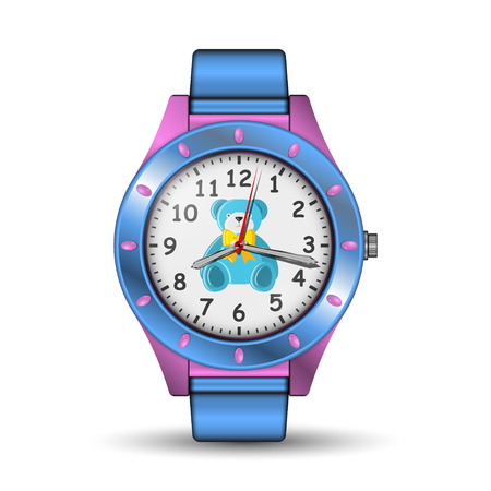 Realistic watch on white illustration. Stock fotó - 88905847