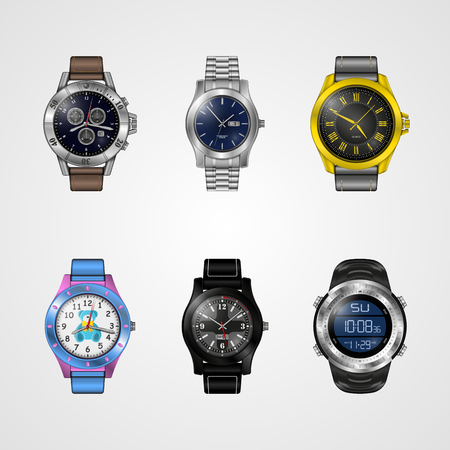 Vector photo-realistic watch Vettoriali