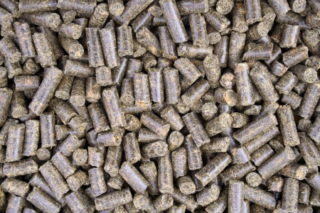 Close-up on pellets used as animal food
