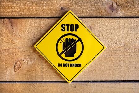 knock: Do not knock, warning sign