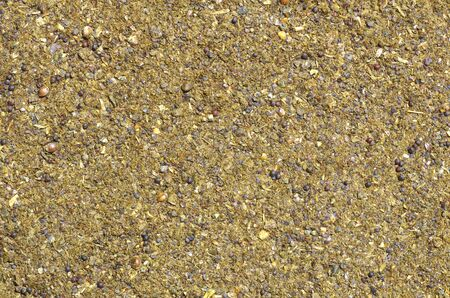 variance: Close-up on crushed seed mix Stock Photo