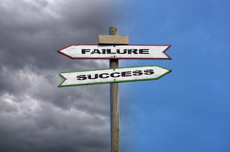 Double directional signs: success and failure with contrasted background photo
