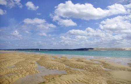 Le banc darguin parc national avec vue sur la dune du Pyla ou Pilat Banque d'images - 15066445