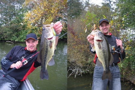 big mouth: A lucky bass fisherman