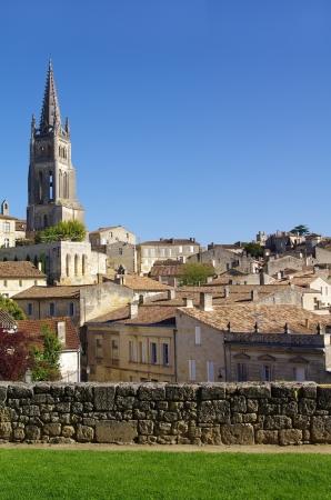 saint emilion: View on Saint Emilion village Stock Photo