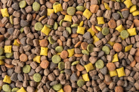 Close up on pet food Standard-Bild