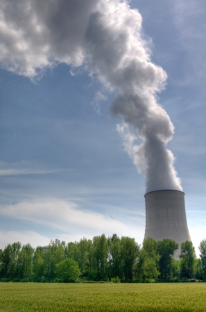 Cooling tower of a French nuclear power station