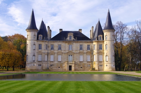 chateau pichon longueville  is a famous wine castle built in 1851 by Raoul de Pichon Longueville